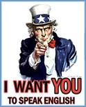 Uncle Sam Speak English