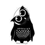 Black White Owl