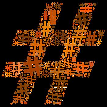 Orange Hashtag Cloud