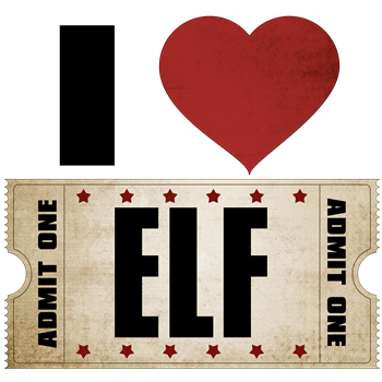 I Heart Elf Ticket