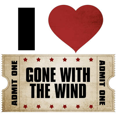 I Heart Gone With the Wind Ticket