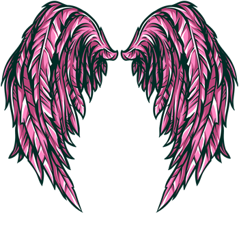 Pink Fantasy Angel Wings
