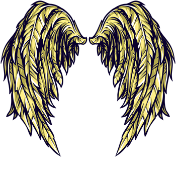 Gold Fantasy Angel Wings