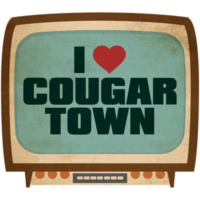 Retro I Heart Cougar Town
