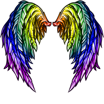Rainbow Fantasy Angel Wings