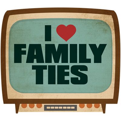 Retro I Heart Family Ties