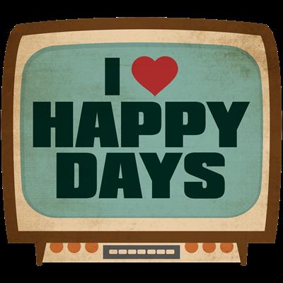 Retro I Heart Happy Days