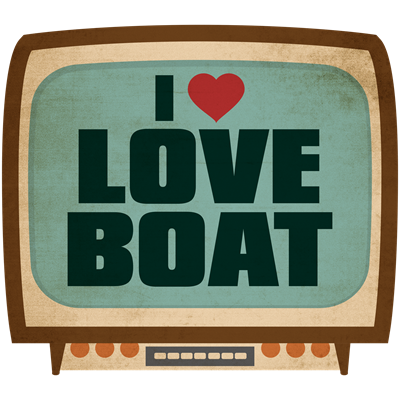 Retro I Heart Love Boat