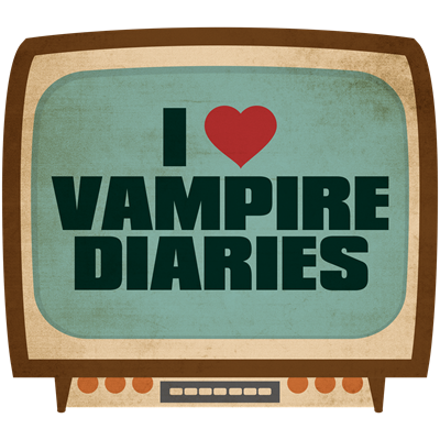 Retro I Heart Vampire Diaries