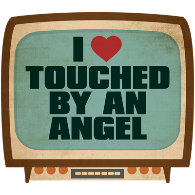 Retro I Heart Touched by an Angel