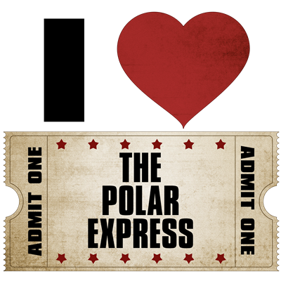 I Heart The Polar Express Ticket