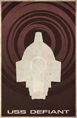 Minimal USS Defiant Poster Design