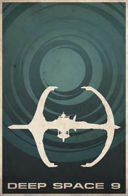 Minimal Deep Space 9 Poster Design