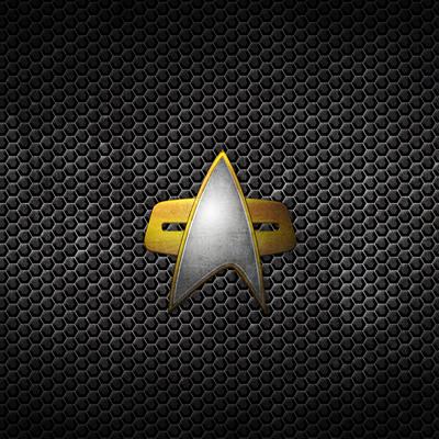 Grunge Starfleet Comm Badge