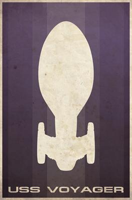 Minimal USS Voyager Poster Design