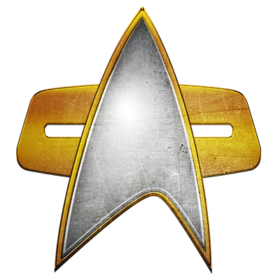 Distressed Starfleet Comm Badge