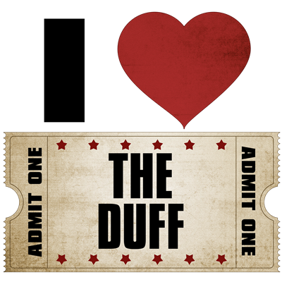 I Heart The Duff Ticket