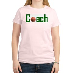 Basketball Coach Green Women's Light T-Shirt