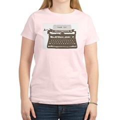Typewriter Women's Light T-Shirt
