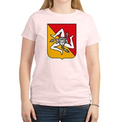 Sicily Coat of Arms Women's Light T-Shirt