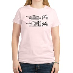 M1-A1 Tanker - Women's Light T-Shirt