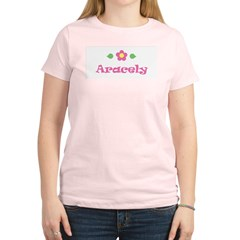 "Pink Daisy - ""Aracely"" Women's Light T-Shirt"