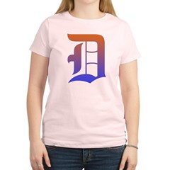 Olde English D Women's + Size Scoop Neck Dark Tee Women's Light T-Shirt