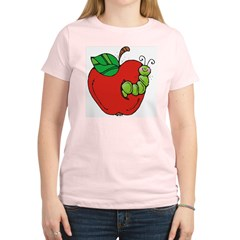 Wormy Apple Women's Light T-Shirt