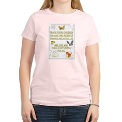 """Teach your children"" Women's Light T-Shirt"