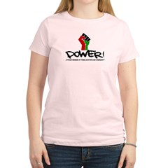 Women's Plus Size V-Neck Dark Black Power Shirt Women's Light T-Shirt