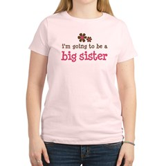 big sister pink brown flower Women's Light T-Shirt