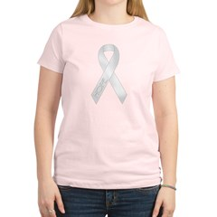 White Ribbon Women's Light T-Shirt