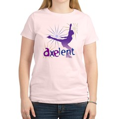 Ice Skating is Axelent Women's Light T-Shirt