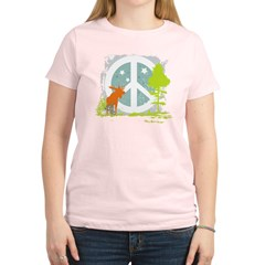 Moose and Peace Sign Women's Light T-Shirt