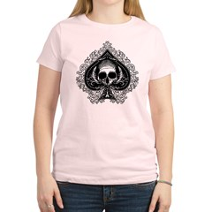 ace-spades-skull_bl.png Women's Light T-Shirt