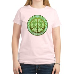 Peaceful Tree Hugger Women's Light T-Shirt