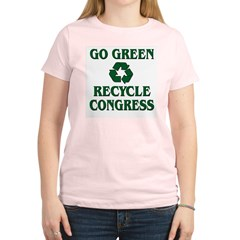 Go Green - Recycle Congress Women's Light T-Shirt