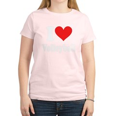I Heart Volleyball: Women's Light T-Shirt