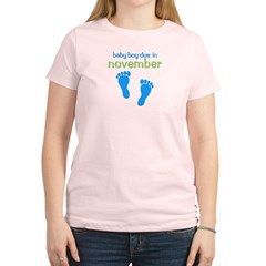 Blue Footprints (Boy, Due Dat Women's Light T-Shirt