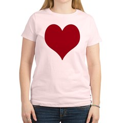 - Heart/Love Design Women's Light T-Shirt