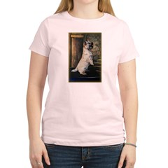 &quot;Sitting Pretty&quot; Cairn Terrier Women's Light T-Shirt