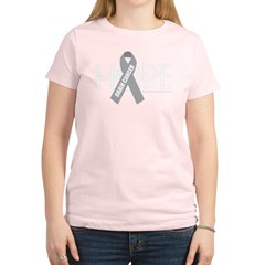 Brain Cancer Hope Women's Light T-Shirt