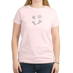 2-HandsandFeetTopCanvas Women's Light T-Shirt