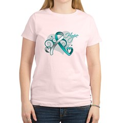 Hope Ribbon Cervical Cancer Women's Light T-Shirt