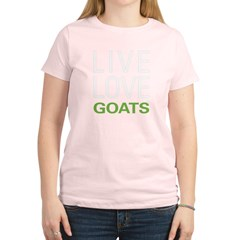 Live Love Goats Women's Light T-Shirt
