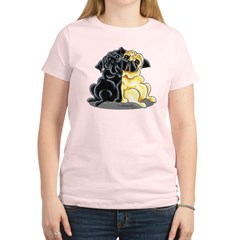 Black Fawn Pug Women's Light T-Shirt