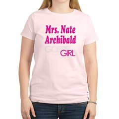 Mrs. Nate Archibald Gossip Girl Women's Light T-Shirt