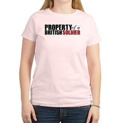 Property of a British Soldier - Women's Light T-Shirt