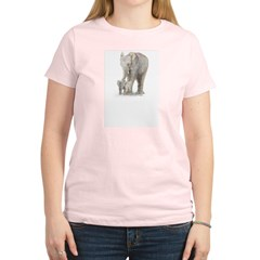 Mother and baby elephant Women's Light T-Shirt