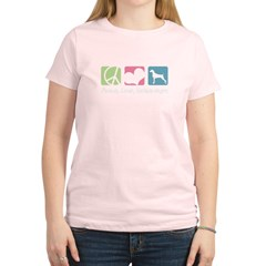 Peace, Love, Weimaraners Women's Light T-Shirt